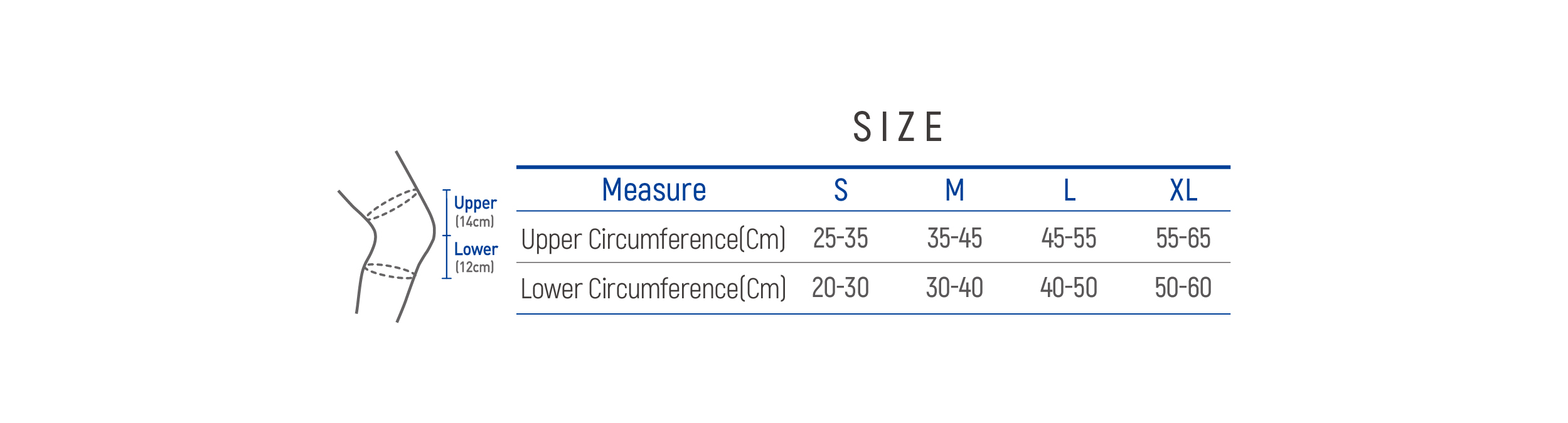 DR-K021 Size table image
